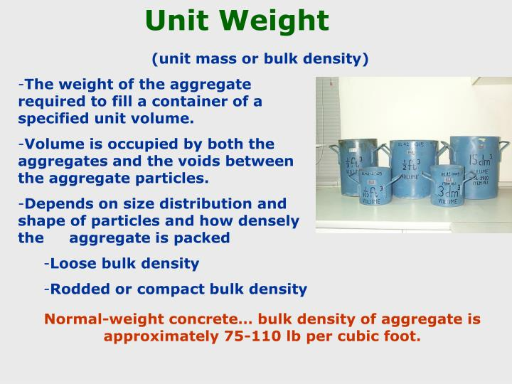 Unit Weight
