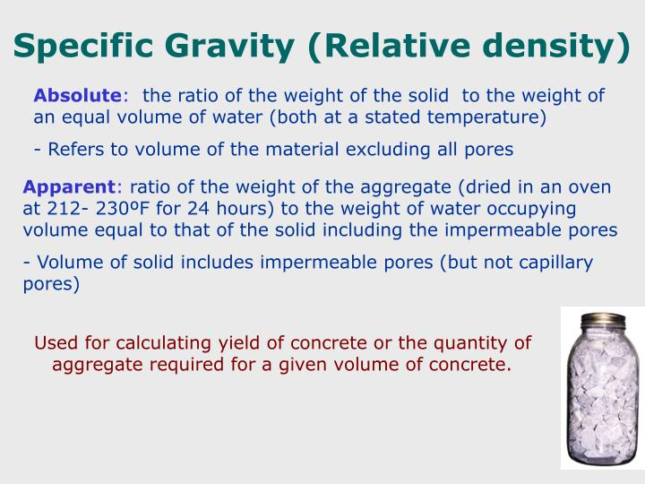 Specific Gravity (Relative density)