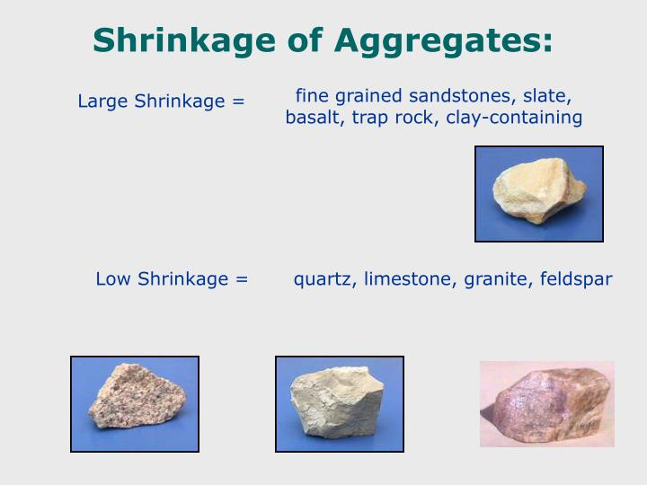 Shrinkage of Aggregates: