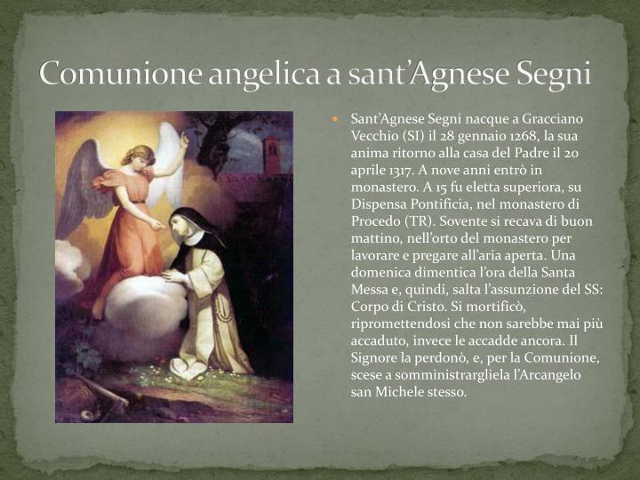 Comunione angelica a sant'Agnese Segni