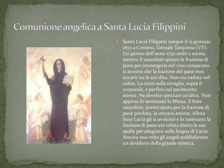 Comunione angelica a Santa Lucia Filippini