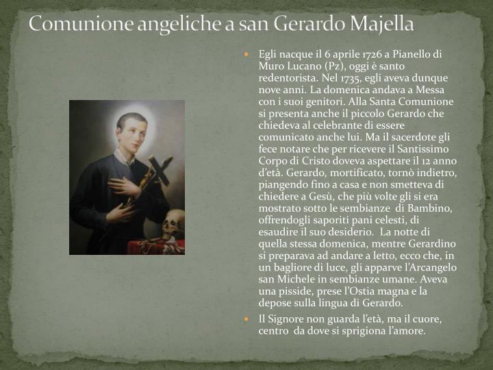 Comunione angeliche a san gerardo majella