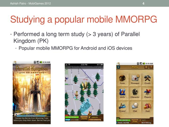 Studying a popular mobile MMORPG