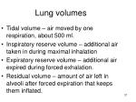 lung volumes1