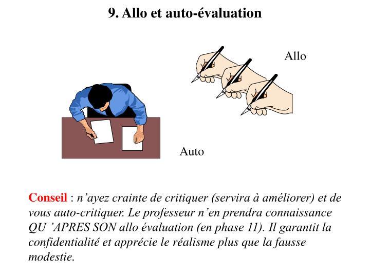 9. Allo et auto-évaluation