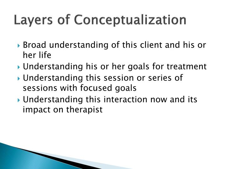 Layers of Conceptualization