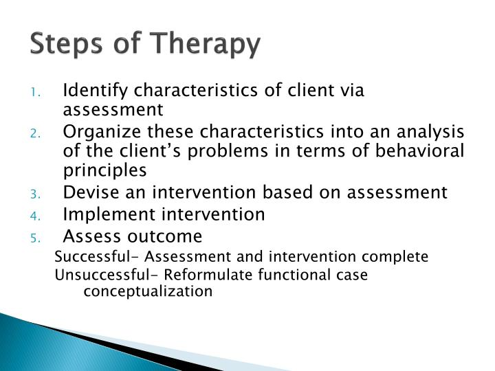 Steps of Therapy