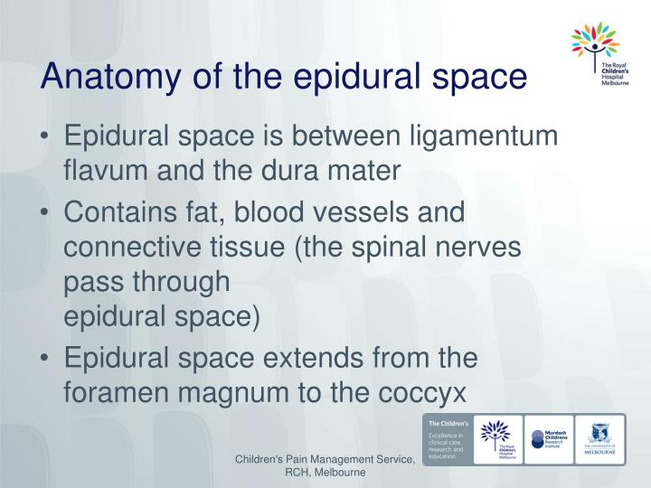 Ppt Pre Reading About Epidural Analgesia For Children Powerpoint