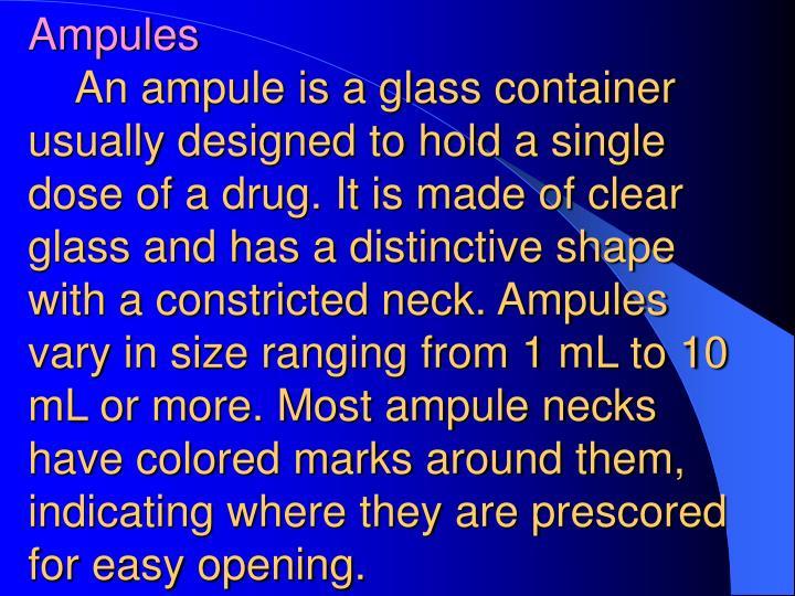 Ampules