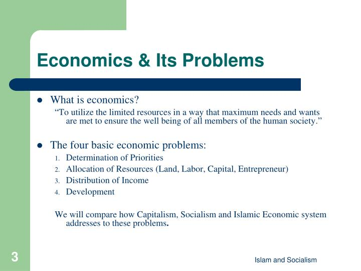 essay on basic problems of economics Introduction the basic economic problem is the scarcity of resources people want more than can be met with their available resources the problem of scarcity of resources has as a result the allocation of resources in other words the process of the selection of needs to be met and the amount of.