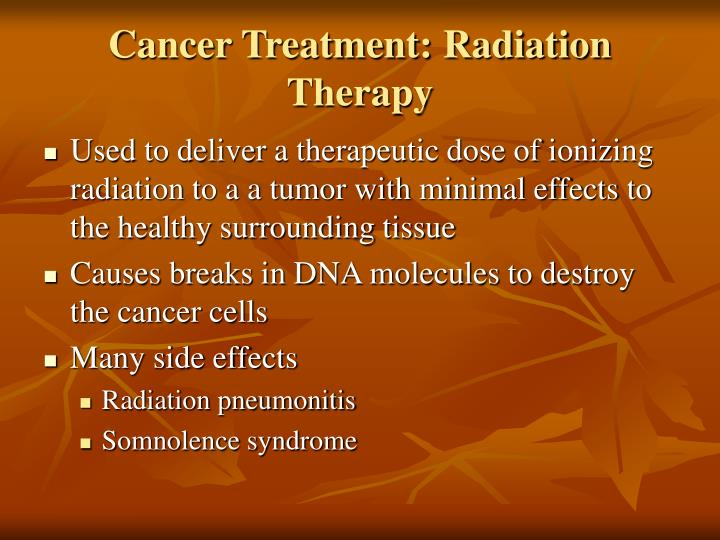 Cancer Treatment: Radiation Therapy