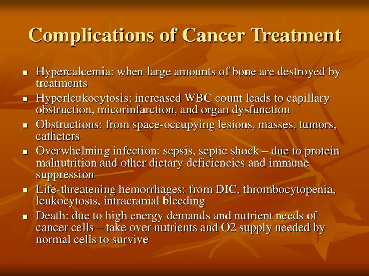 Complications of Cancer Treatment