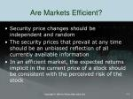 are markets efficient1