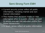 semi strong form emh