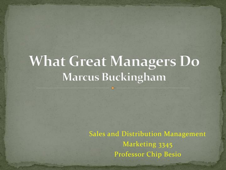 what great managers do marcus buckingham n.
