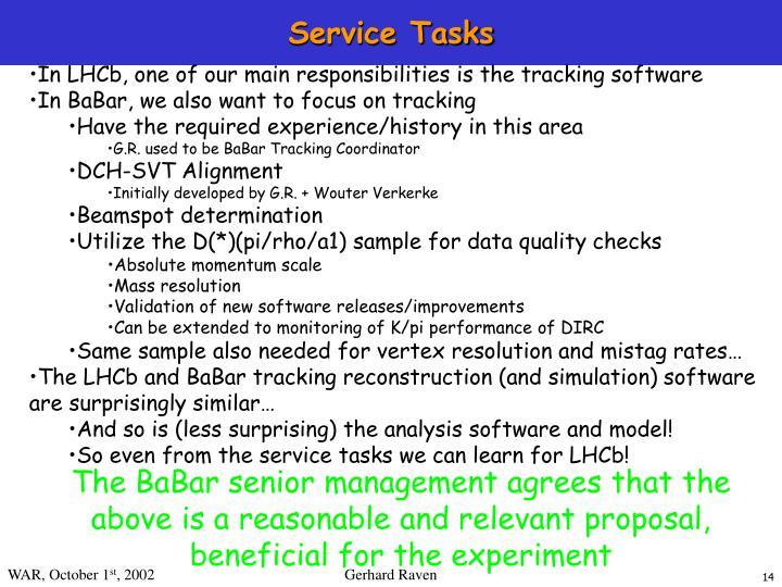Service Tasks