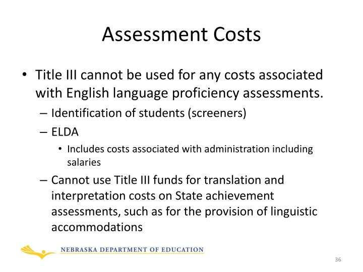 Assessment Costs