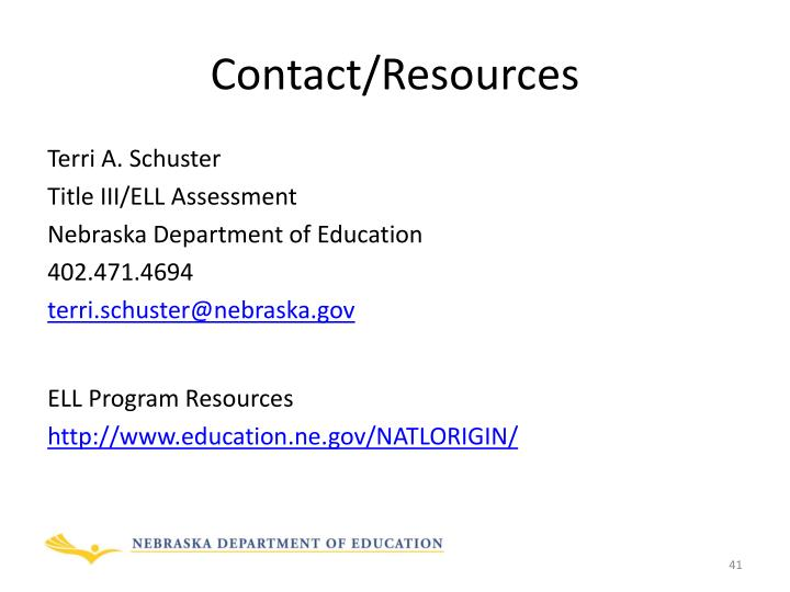 Contact/Resources