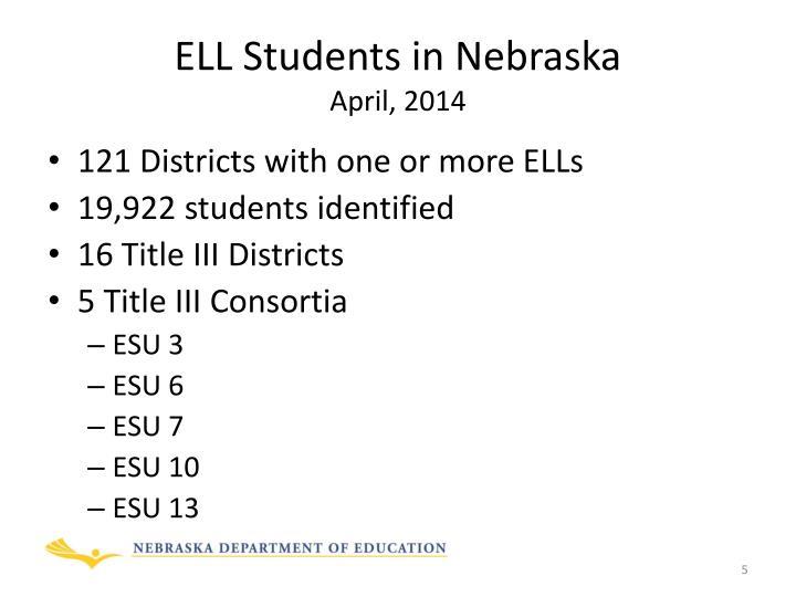ELL Students in Nebraska