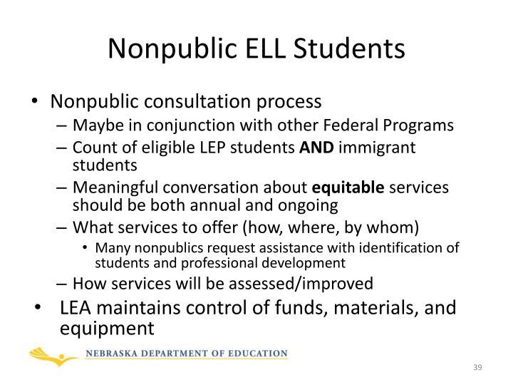 Nonpublic ELL Students
