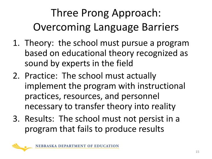 Three Prong Approach: