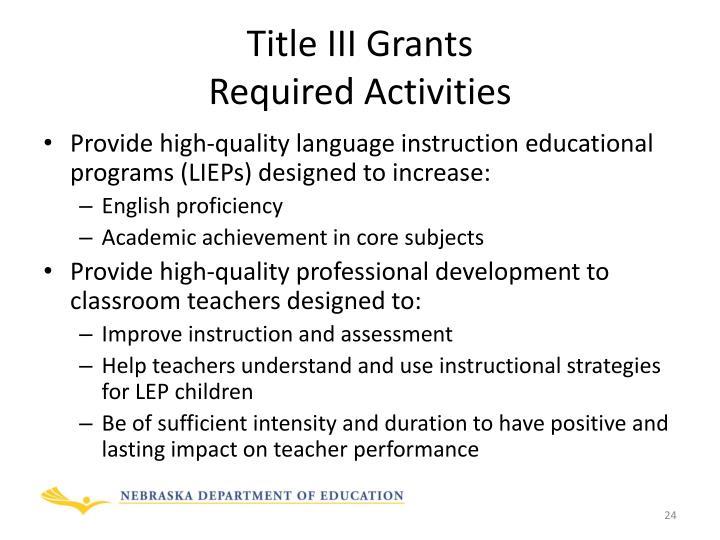 Title III Grants