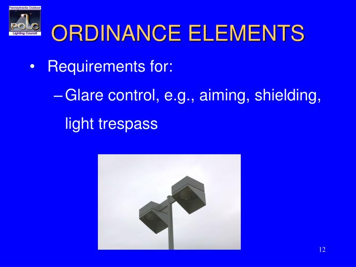 ORDINANCE ELEMENTS