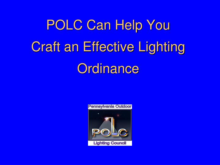 POLC Can Help You