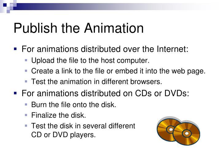 Publish the Animation