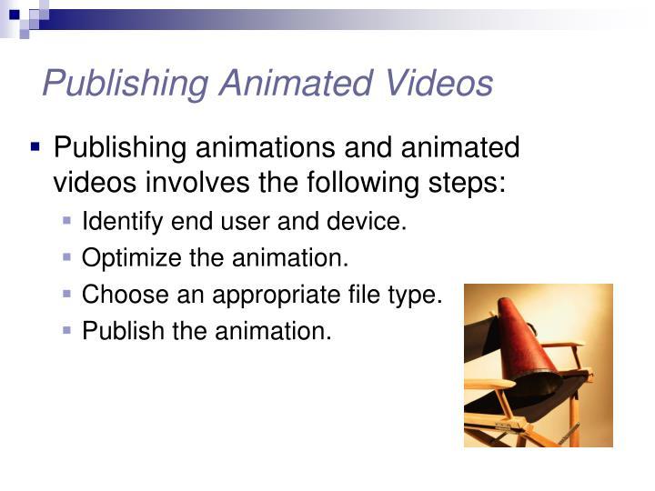 Publishing animated videos