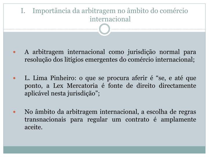 Importância da arbitragem no âmbito do comércio internacional