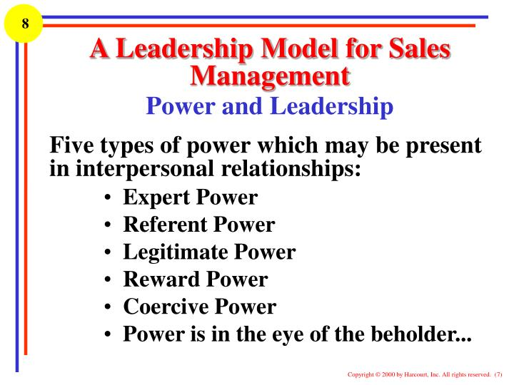 authority leadership and supervision Vision leadership directs or determines the vision of a project or company and spearheads the direction supervision is the management of the resources and people in accordance with the established vision.