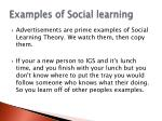examples of social learning