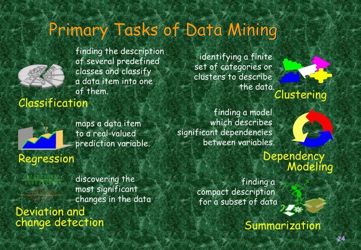 Primary Tasks of Data Mining