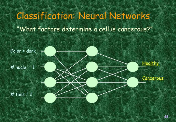 Classification: Neural Networks
