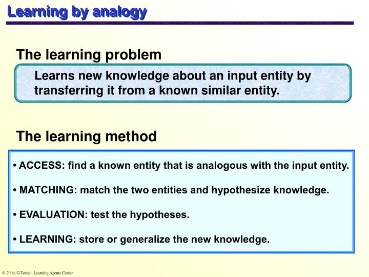 Learning by analogy