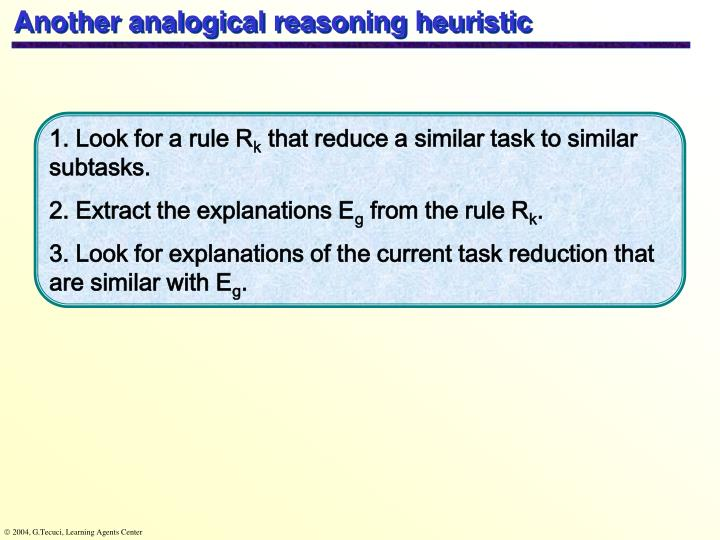 Another analogical reasoning heuristic