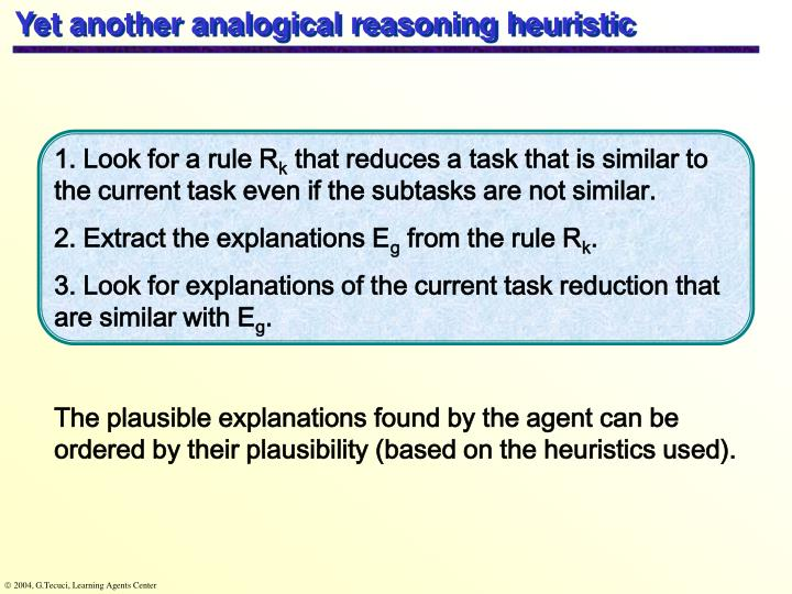 Yet another analogical reasoning heuristic