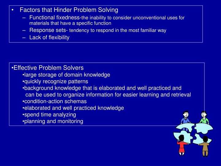 Factors that Hinder Problem Solving