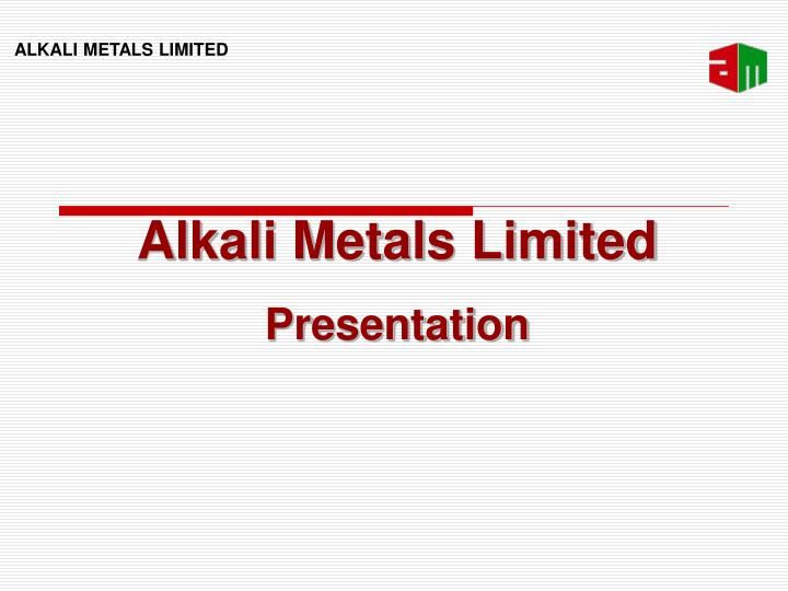 Alkali Metals Limited