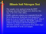 illinois soil nitrogen test