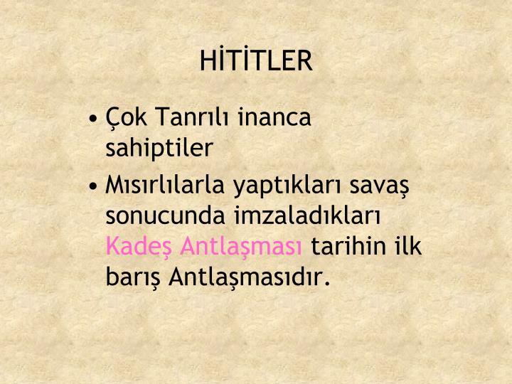 HİTİTLER