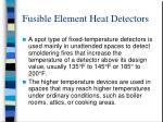 fusible element heat detectors