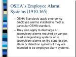 osha s employee alarm systems 1910 165