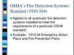 osha s fire detection systems standard 1910 164