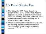 uv flame detector uses