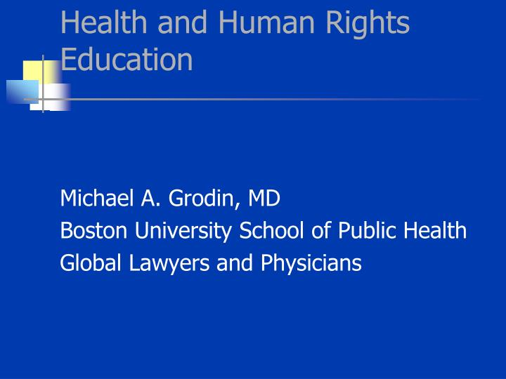 health and human rights education n.