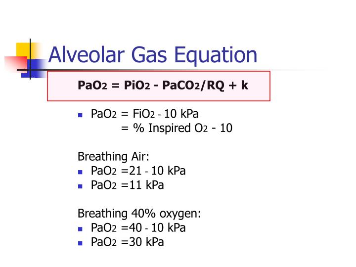 Alveolar Gas Equation