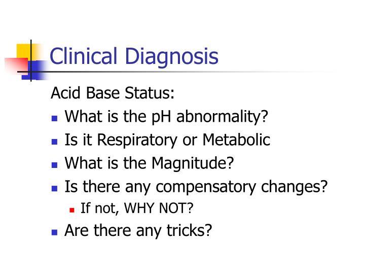 Clinical Diagnosis