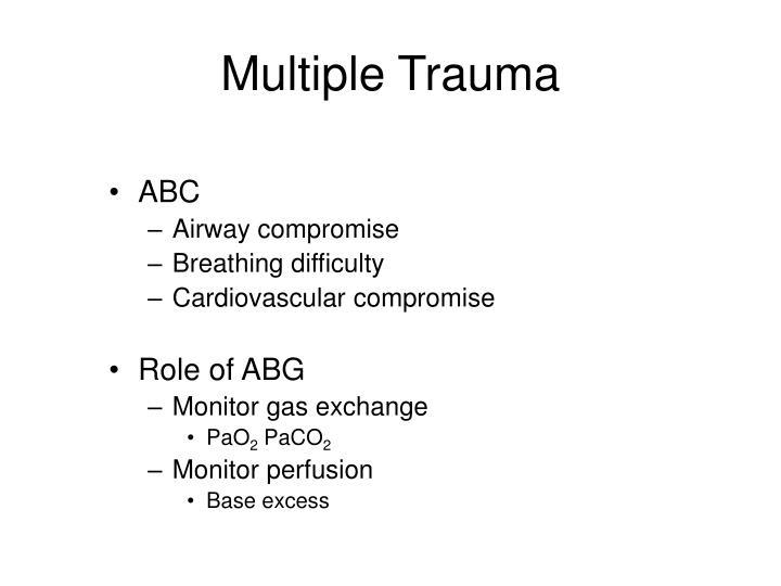 Multiple Trauma